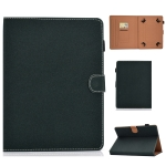 For 7 inch Solid Color Tablet PC Universal Magnetic Horizontal Flip Leather Case with Card Slots & Holder(Green)
