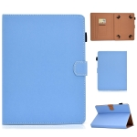 For 8 inch Solid Color Tablet PC Universal Magnetic Horizontal Flip Leather Case with Card Slots & Holder(Blue)