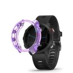 For Garmin Forerunner 245 TPU Translucent Watch Case(Purple)