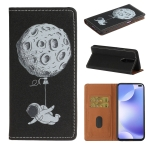 For Xiaomi Redmi K30 Pure Color Painting Horizontal Flip Leather Case with Card Slots & Holder & Lanyard(Spaceman)