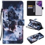 For Galaxy S20 Ultra Painting Horizontal Flip Leather Case with Holder & Card Slot & Lanyard(Magician)