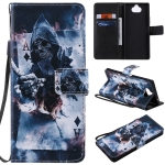For Sony Xperia 20 Painting Horizontal Flip Leather Case with Holder & Card Slot & Lanyard(Magician)