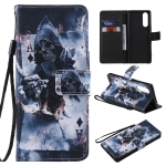 For Sony XZ5 Painting Horizontal Flip Leather Case with Holder & Card Slot & Lanyard(Magician)