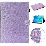 For Samsung Galaxy Tab A 8.0 T350 Love Buckle Glitter Horizontal Flip Leather Case with Holder & Card Slots(Purple)