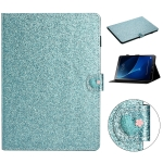 For Samsung Galaxy Tab A 10.1 T580 Love Buckle Glitter Horizontal Flip Leather Case with Holder & Card Slots(Blue)