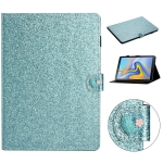 For Samsung Galaxy Tab A 10.5 T590 Love Buckle Glitter Horizontal Flip Leather Case with Holder & Card Slots(Blue)
