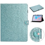 For Samsung Galaxy Tab S6 T860 Love Buckle Glitter Horizontal Flip Leather Case with Holder & Card Slots(Blue)