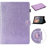 For Amazon Kindle 4/3/2/1 Love Buckle Glitter Horizontal Flip Leather Case with Holder & Card Slots(Purple)