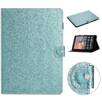 For Amazon Kindle Fire HD 8 Love Buckle Glitter Horizontal Flip Leather Case with Holder & Card Slots(Blue)