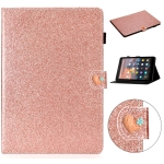 For Amazon Kindle Fire HD 10 Love Buckle Glitter Horizontal Flip Leather Case with Holder & Card Slots(Rose Gold)