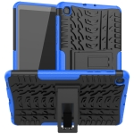 For Samsung Galaxy Tab A 8.4 2020 Tire Texture Shockproof TPU + PC Protective Case with Holder(Blue)