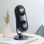 JOYROOM JR-CY312 Vertical Double Engine Fan Portable Handheld Mini Electric Fan(Black)