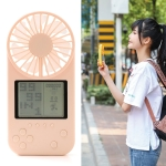F2 Mini Handheld Game Electric Fan, with 3 Speed Control (Pink)