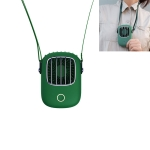 USB Charging Fan Portable Mini Hanging Neck Fan, with 3 Speed Control (Green)