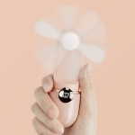 MOMAX IF6 Portable USB Mini Handheld Fan, with 2 Speed Control (Pink)