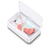Usams US-ZB139-1 Smartphone Sterilizer Sterilization Box UV Light Disinfection Cleaning Box (White)