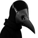HG065 Halloween Dress Up Props Beak Shape Mask, Size: 30 x 25cm(Black)