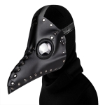 HG65005 Halloween Dress Up Props Rivets Beak Shape Mask Punk Style Mask(Black)