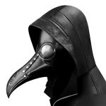 HG65006 Halloween Dress Up Props Rivets Stitching Beak Shape Mask Punk Style Mask