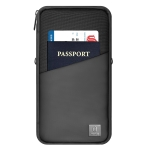 WIWU Travel Mate Portable Water-resistant Fabric Travel Passport Storage Bag, Size: 28.5×14.5×5.4cm(Black)