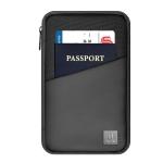 WIWU Macbook Mate Portable Water-resistant Fabric Travel Passport Storage Bag, Size: 23x15x8cm(Black)