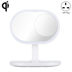 MOMAX QL3 Q.LED MIRROR Multi-function Wireless Charging Beauty Mirror Table Lamp, UK Plug