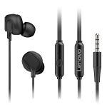 Original Lenovo HF150 High Sound Quality Noise Reduction In-Ear Wired Control Earphone (Black)
