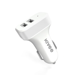 KIVEE KV-UT501 2.1A Dual USB Car Charger (White)