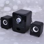 T303 11W USB Power Supply Interface 2.1 Channel Multimedia Active Speaker(Black)