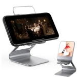 Universal Mobile Phone / Tablet PC Multifunctional Metal Desktop Stand with Makeup Mirror (Grey)