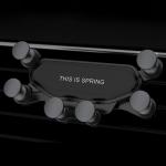KUULAA KL-O13 Six-point Linkage Car Gravity Mobile Phone Bracket Holder (Black)
