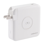 MOMAX IP93MFI Q.Power Plug PD Quick Charging Travel Charger Power Adapter with MFI Cable(White)