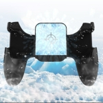 S-03 Six-finger Linkage Semiconductor Cooling Mobile Phone Gamepad with Bracket, Suitable for 4.7-6.5 inch Mobile Phones