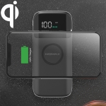 MOMAX IP90 Q.Power AIR2 Smart Mobile Phone Digital Display Wireless Charger (Black)