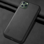X-level For iPhone 11 Pro Max Plain Series Shockproof Protective Case(Black)