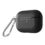 For AirPods Pro TPU Football Texture Wireless Earphone Protective Case (Black)