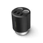 Original Lenovo HC07 Dual Cigarette Lighter + 3 USB Ports Multi-function Car Charger (Black)