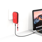 Original Lenovo IDMIX CH06 3 in 1 30W Max PD + USB-A Ports Travel Charger / Power Blank / Wireless Charger, US Plug (Red)