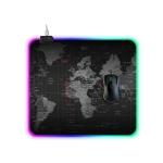 Computer World Map Pattern Illuminated Mouse Pad, Size: 45 x 40 x 0.4cm