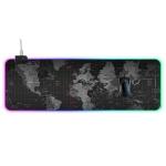 Computer World Map Pattern Illuminated Mouse Pad, Size: 90 x 30 x 0.4cm