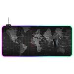 Computer World Map Pattern Illuminated Mouse Pad, Size: 90 x 40 x 0.4cm