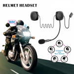 T2 Bluetooth V5.0 Helmet Headset 5V for Motorcycle Driving with Anti-interference Microphone
