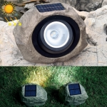 Solar Powered Simulated Stone Spotlight LED Light IP65 Waterproof Outdoor Garden Lawn Lamp