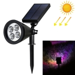 4 LEDs Solar Powered Lawn Spotlight IP65 Waterproof Outdoor Garden Landscape Lamp (Colorful Light)