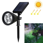 4 LEDs Solar Powered Lawn Spotlight IP65 Waterproof Outdoor Garden Landscape Lamp(White Light)