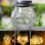 Solar Energy Glass Bottle Pendent Lamp IP55 Waterproof Outdoor Garden Decoration Light (Warm White)