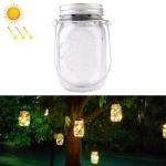 10 LEDs Solar Energy Mason Jar Pendent Lamp Outdoor Decoration Garden Light (Warm White)
