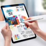 WIWU Pencil One Universal Tablet PC Disc Nib Passive Capacitive Pen Stylus with Ballpoint Nib & Magnetic Cap, Compatible with IOS & Android System Devices