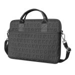 WiWU 13.3 inch Shockproof Dropproof Fashion Slim Shoulder Laptop Bag Handbag(Black)