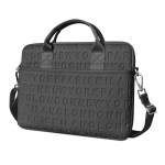 WiWU 15.4 inch Shockproof Dropproof Fashion Slim Shoulder Laptop Bag Handbag (Black)